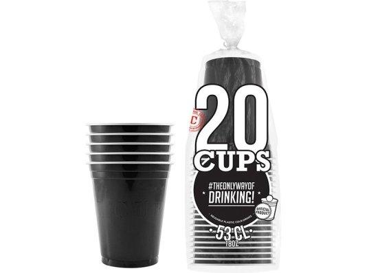 20x Orignal Cup: Sorte Beer Pong Kopper Festartikler