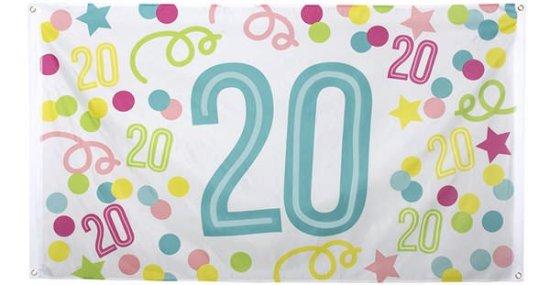 Konfetti Banner 20 aar Festartikler