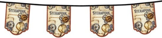 Steampunk Vimpelbanner Festartikler