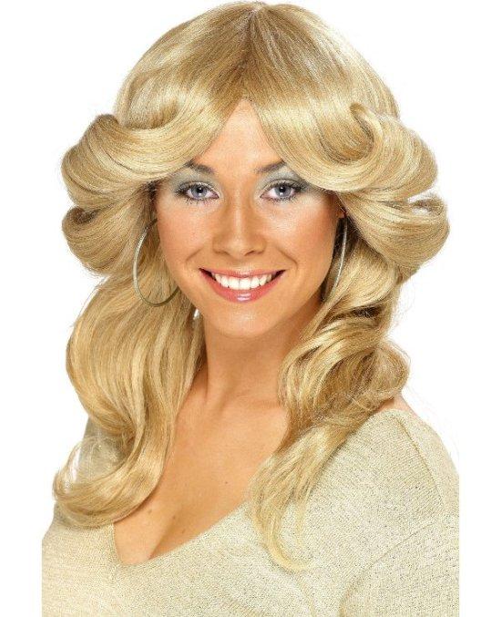 70'er-paryk, lang, blond tilbehoer