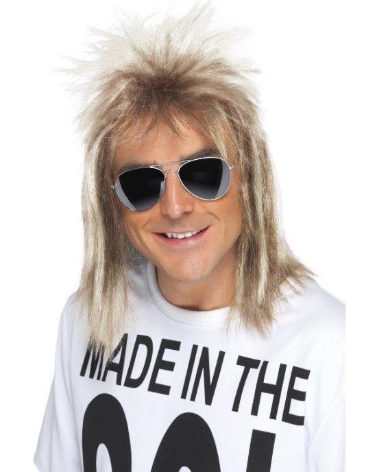 80'er-paryk, rockstjerne, blond Tilbehoer