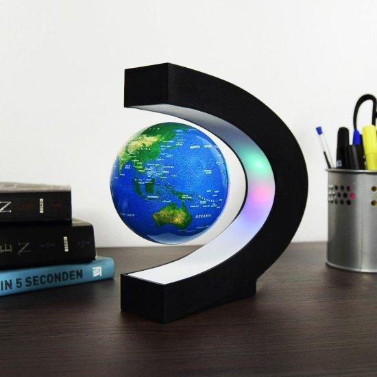 Levitating Floating Globe C-Shape gadget