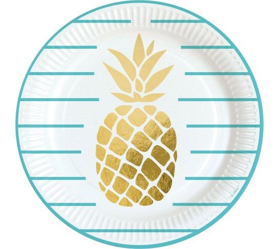 Ananas Tallerkener Festartikler