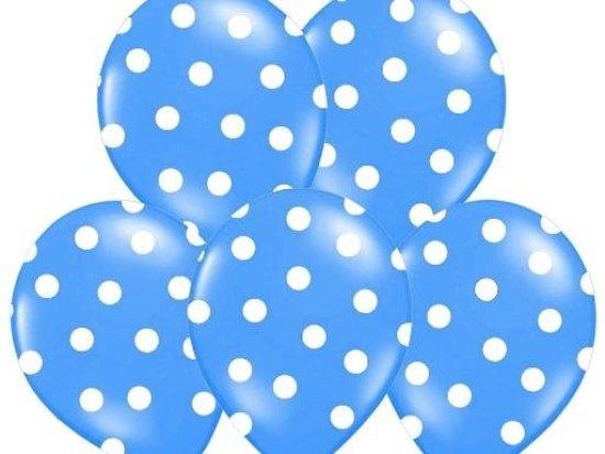 Blaa Balloner med Prikker Festartikler