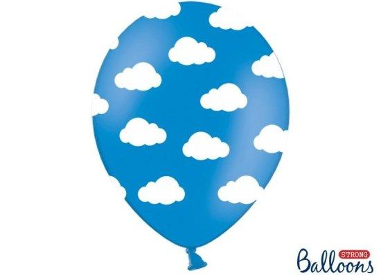 Blaa Balloner Med Skyer Festartikler