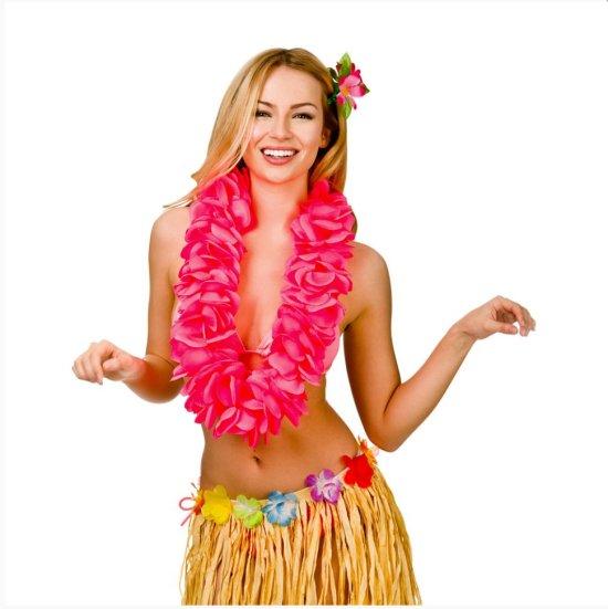 Deluxe Hawaii Krans, Hot Pink Tilbehoer