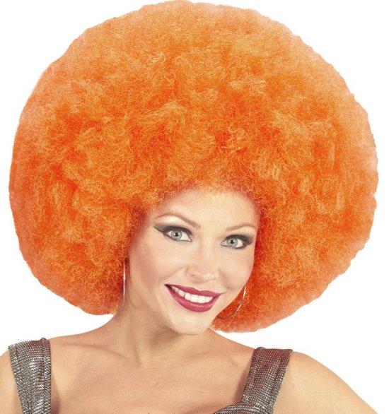 Enorm Stor Afro, orange Tilbehoer
