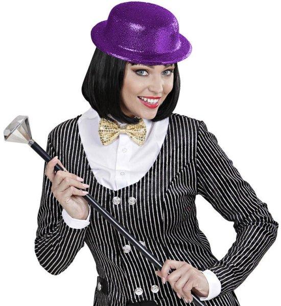 Glitter Bowler Hat, lilla Tilbehoer