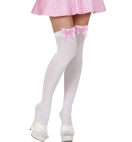 Hvide Selvsiddende med sloejfe, pink Tilbehoer