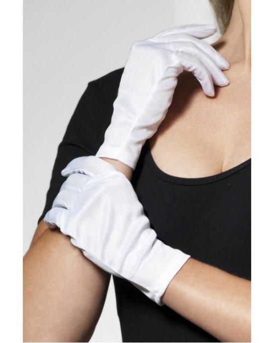 Korte hvide handsker Tilbehoer