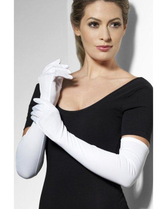 Lange hvide handsker Tilbehoer