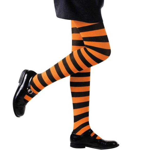 Orange/sort Stroempebukser, barn Tilbehoer