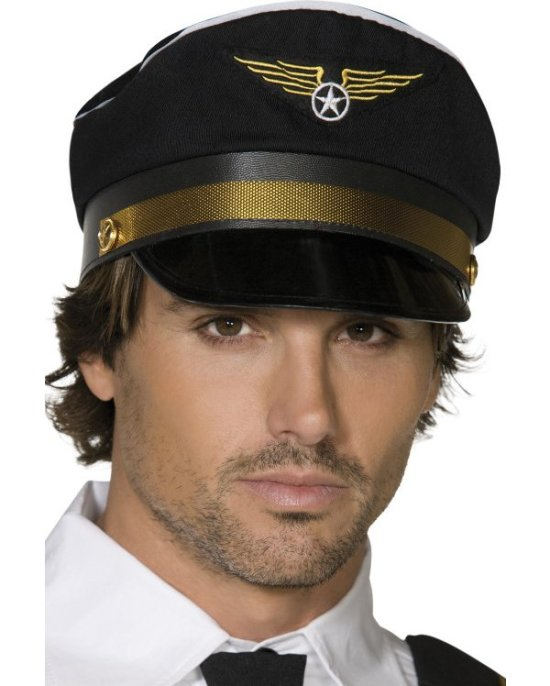 Pilot kasket, sort Tilbehoer