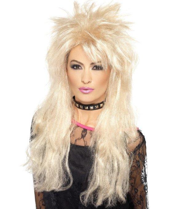 Rockstar paryk, blond Tilbehoer