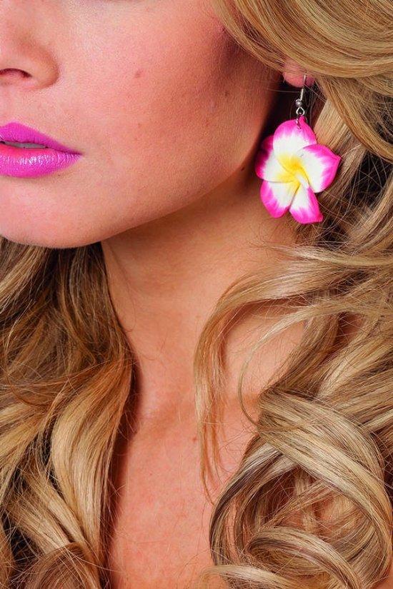 Smukke hawaii oereringe, pink Tilbehoer