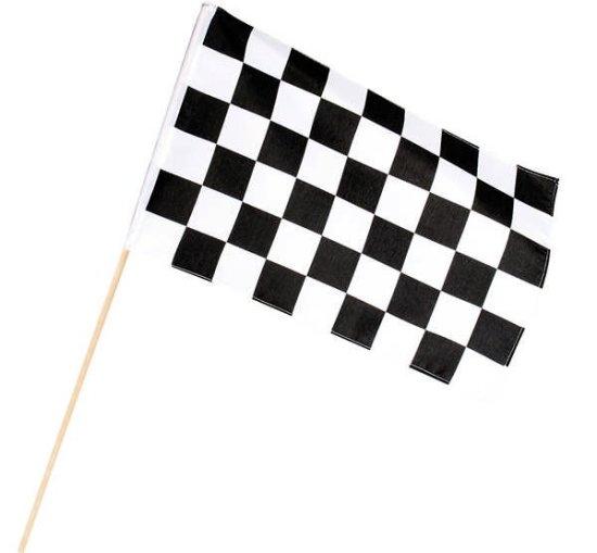 Sort/Hvid Ternet Flag Festartikler