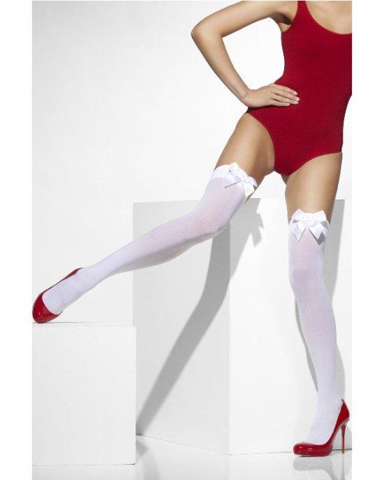 Stockings, sloejfer, hvid Tilbehoer