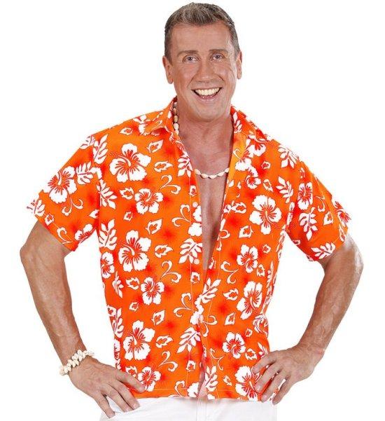 Hawaii skjorte, orange Kostumer