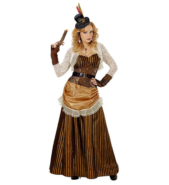 Elegant steampunk kvinde fra widmann fra temashop.dk