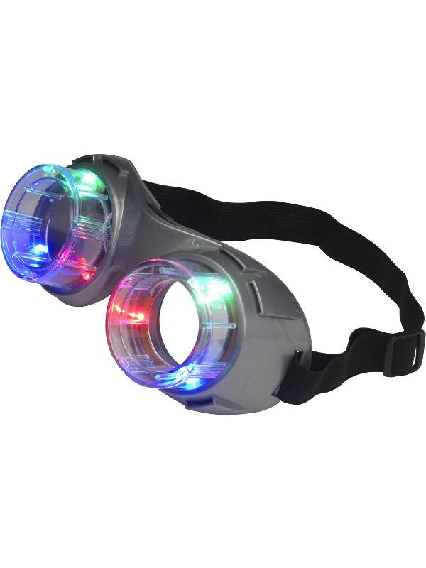smiffys Alien goggles, light up fra temashop.dk