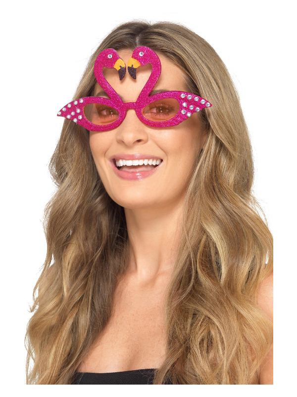 smiffys – Flamingo glimmer briller på temashop.dk