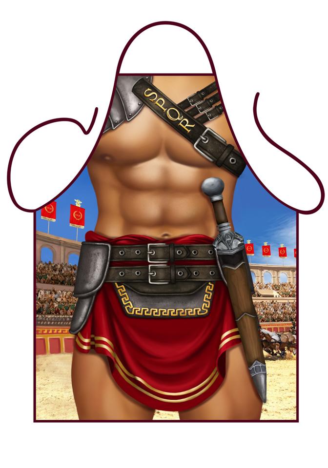 Forklæde gladiator fra partychimp på temashop.dk