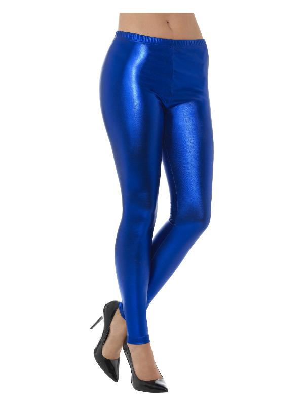 smiffys 80'er disko leggings, blå