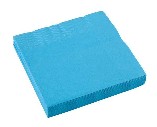 servietter i lyseblå fra amscan