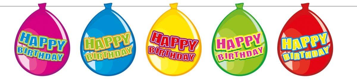 folat – Ballon banner, happy birthday fra temashop.dk