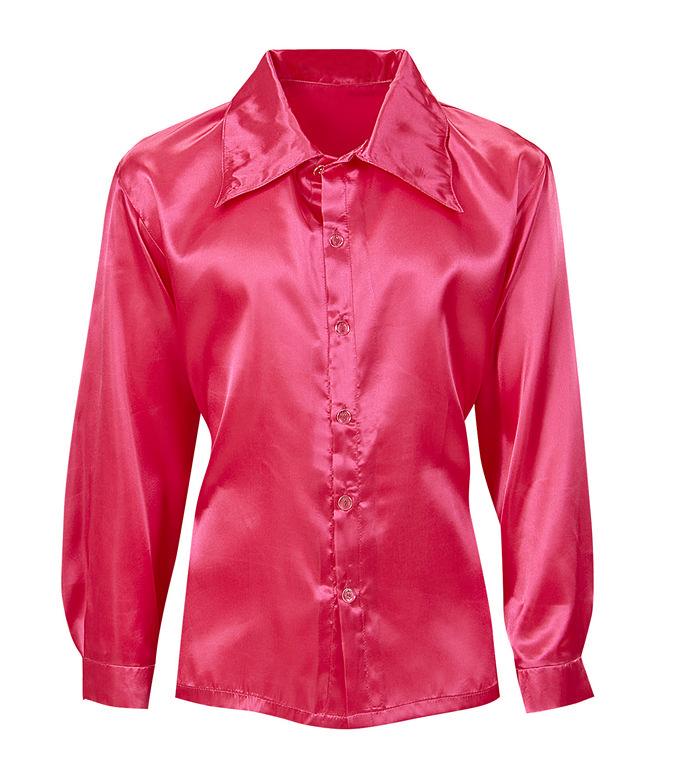 widmann pink satin skjorte
