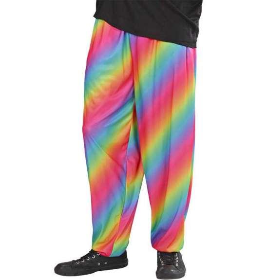 widmann 80'er hiphop bukser, regnbue