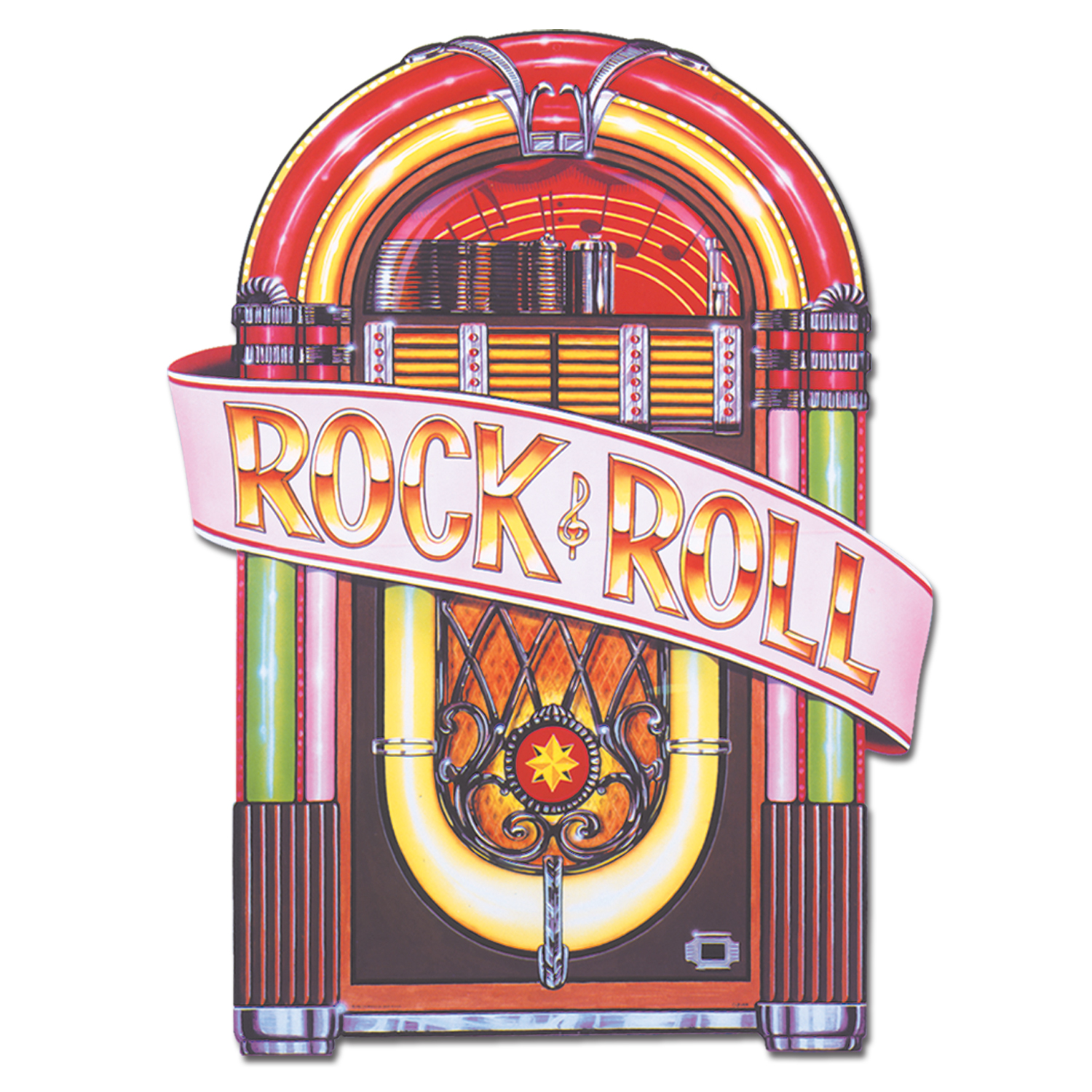 beistle Rock & roll jukebox dekoration på temashop.dk