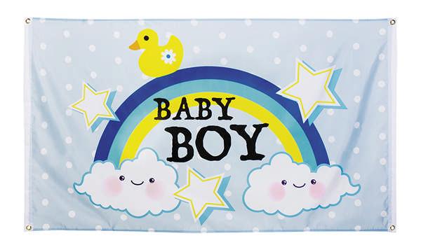 boland Baby shower flag dreng fra temashop.dk