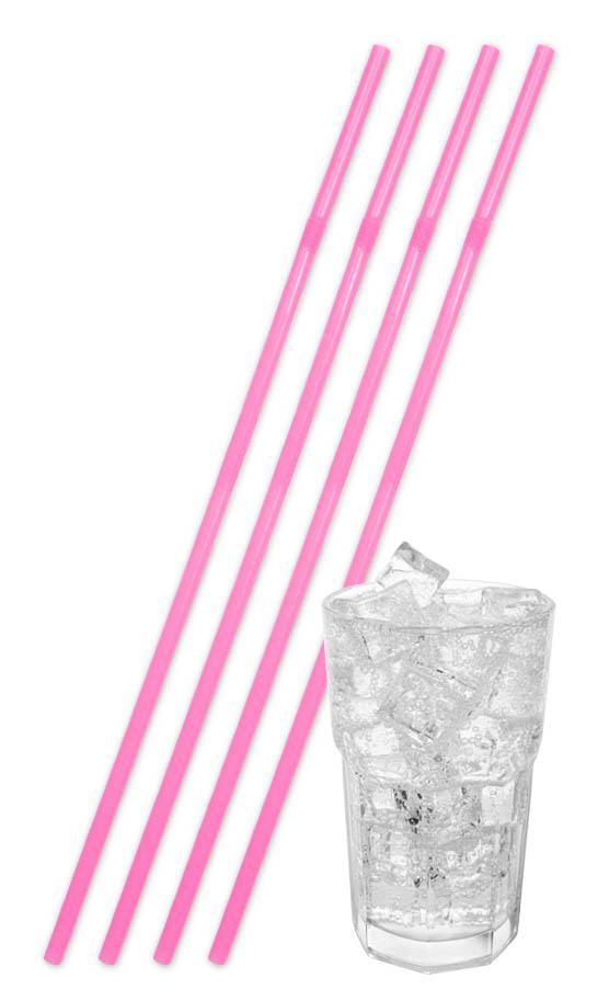folat Store neon pink sugerør fra temashop.dk