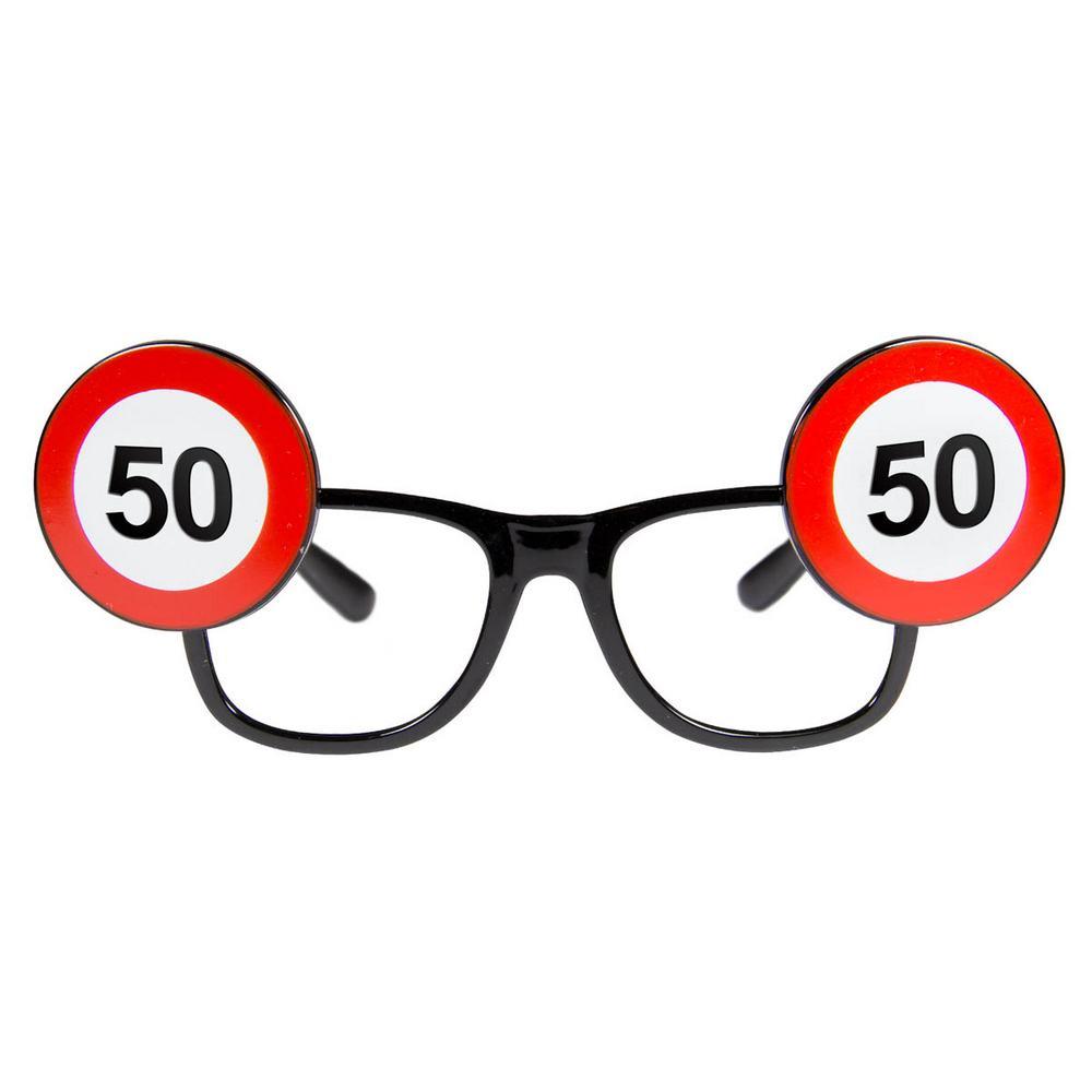 folat Trafikskilt briller, 50 år på temashop.dk