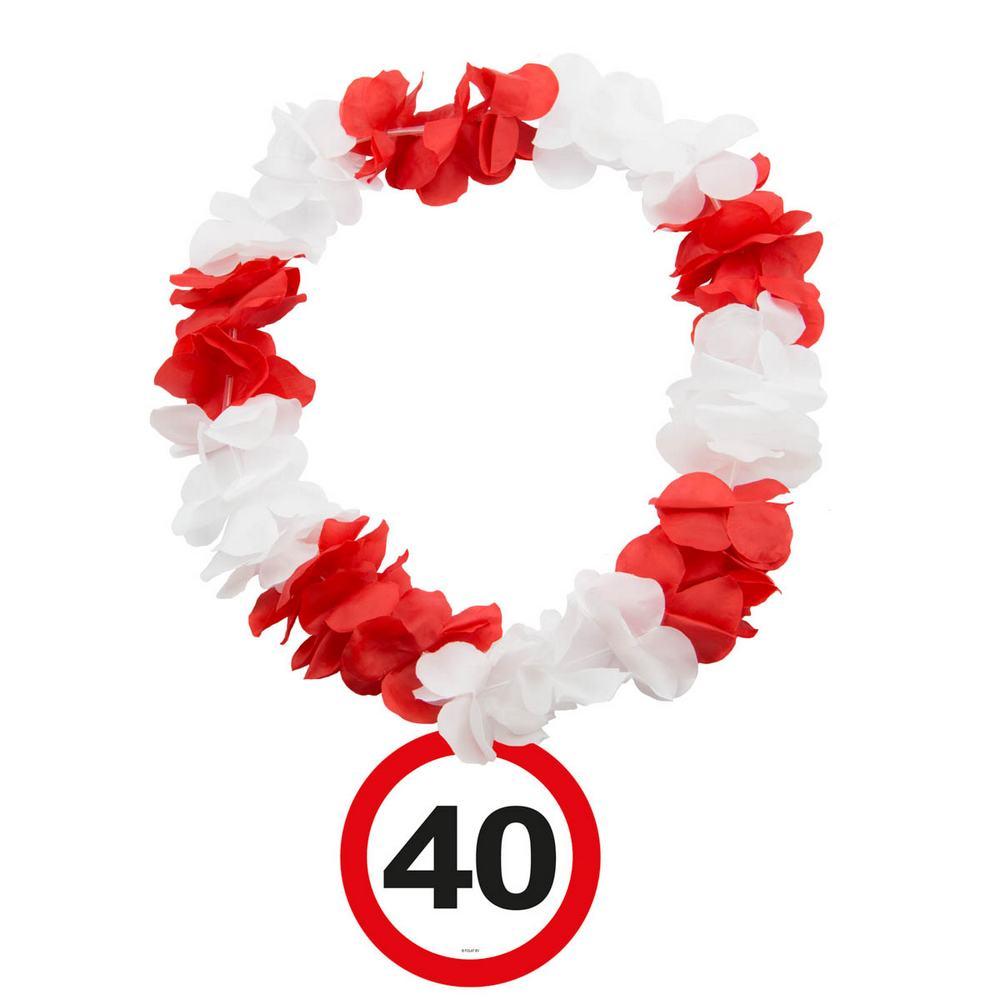 folat Trafikskilt hawaii krans, 40 år fra temashop.dk