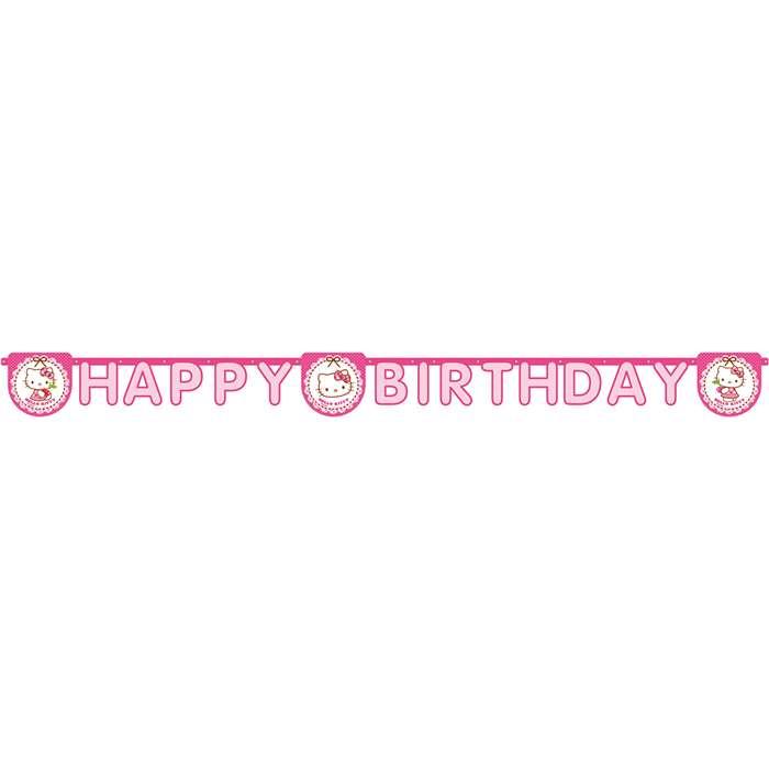 globos nordic – Hello kitty banner happy birthday fra temashop.dk
