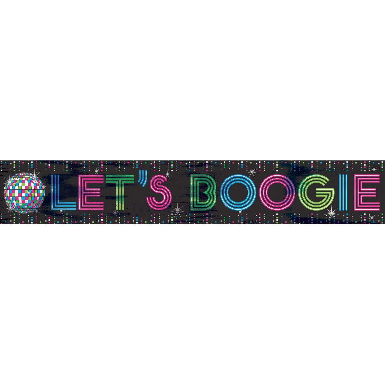 Disco banner, let's boogie fra amscan fra temashop.dk