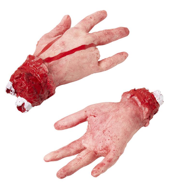 Blodig menneskehånd