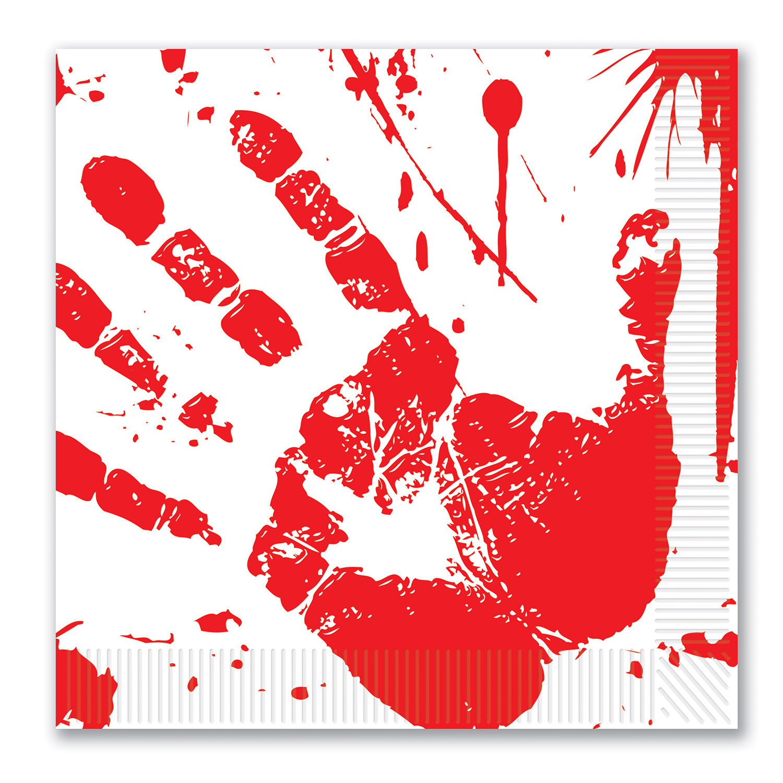 Blodige Håndaftryks Servietter