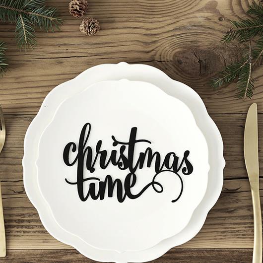 Christmas Time Dekorations Skilt