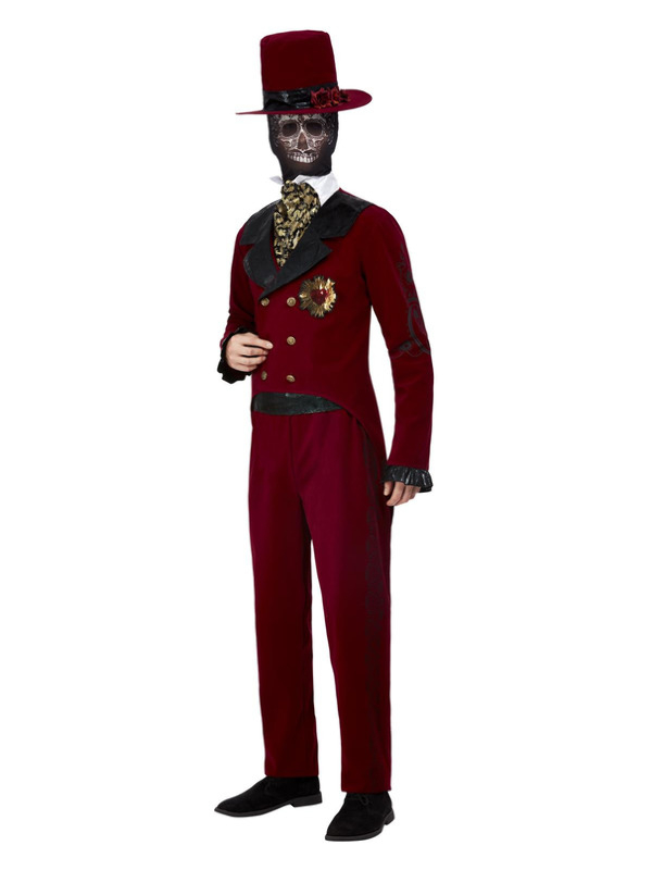 Deluxe Day of the Dead Brudgom Kostume