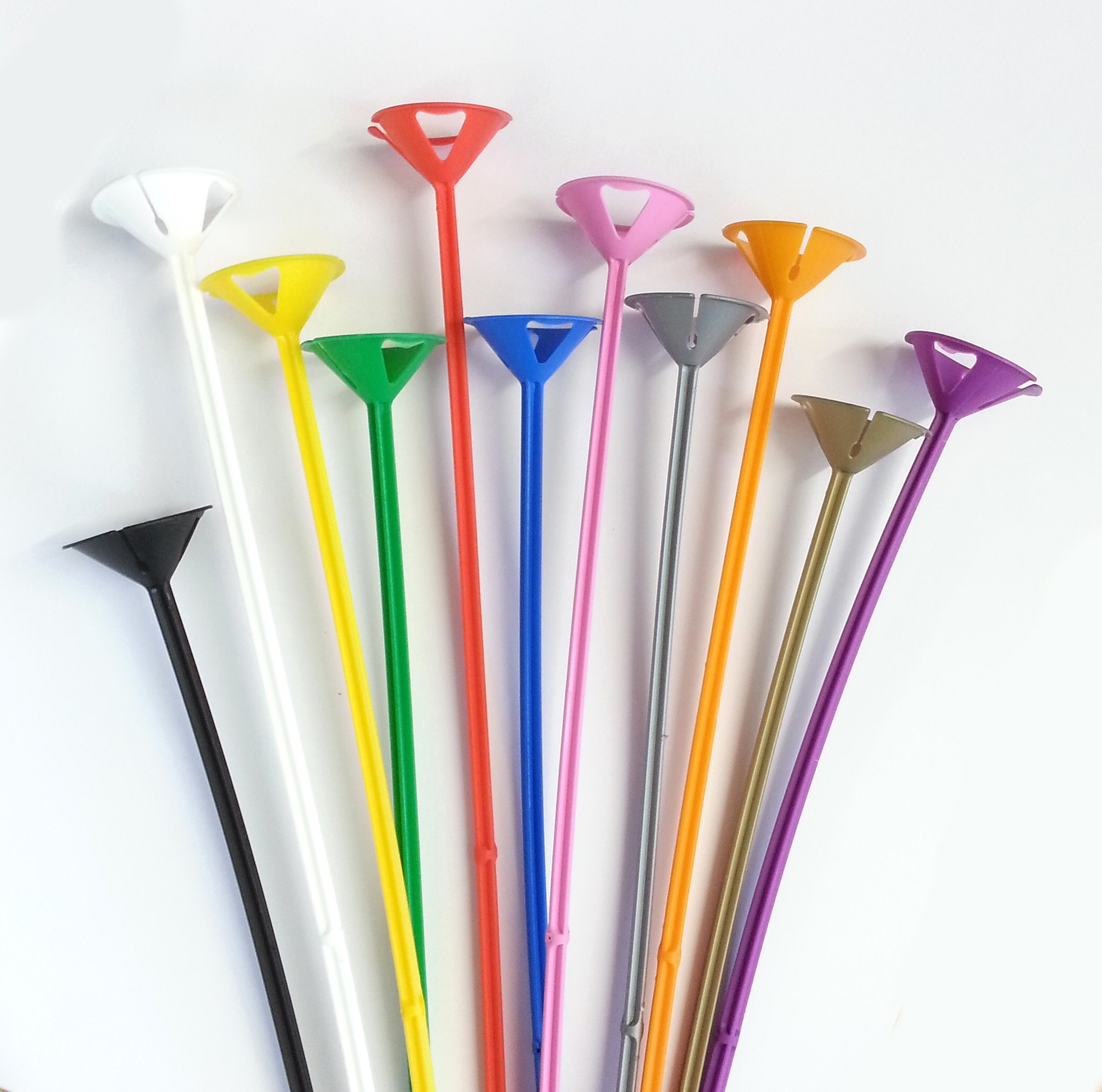 globos nordic 1 pakke m. 10 ens ballonpinde, 10 forskellige farver på temashop.dk