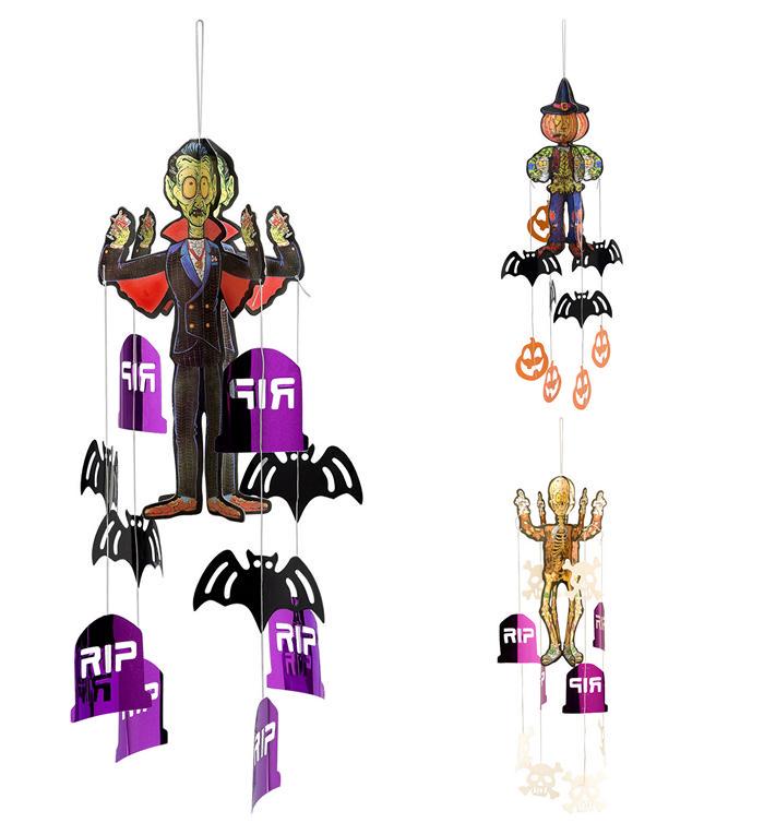 Hængende Halloween Figur, Assorteret