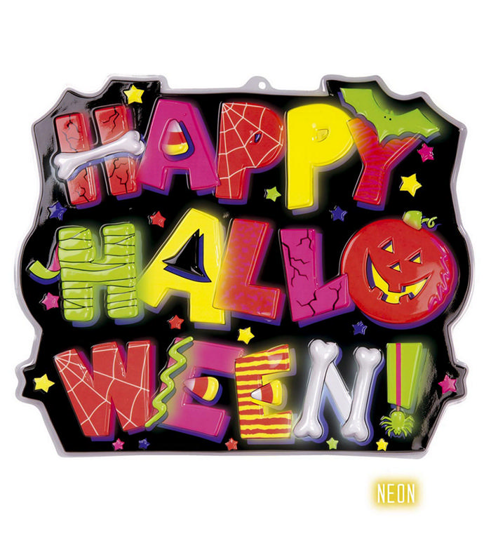 Happy Halloween skilt