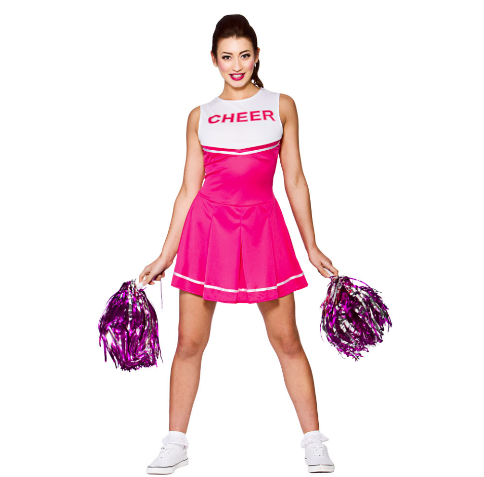 wicked High school cheerleader, pink på temashop.dk