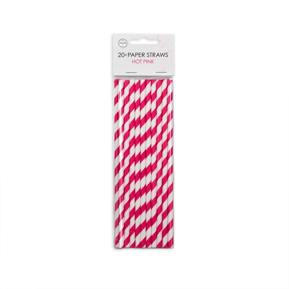 Papirsugerør, Hvid/Pink