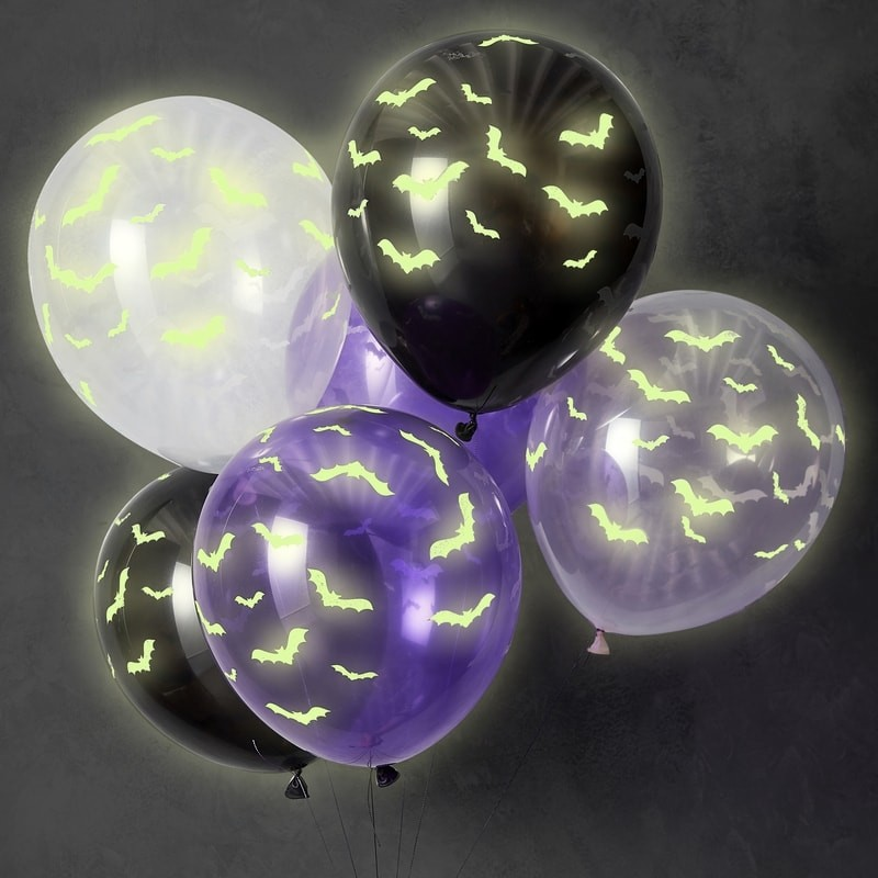 Selvlysende Halloween Flagermus Balloner