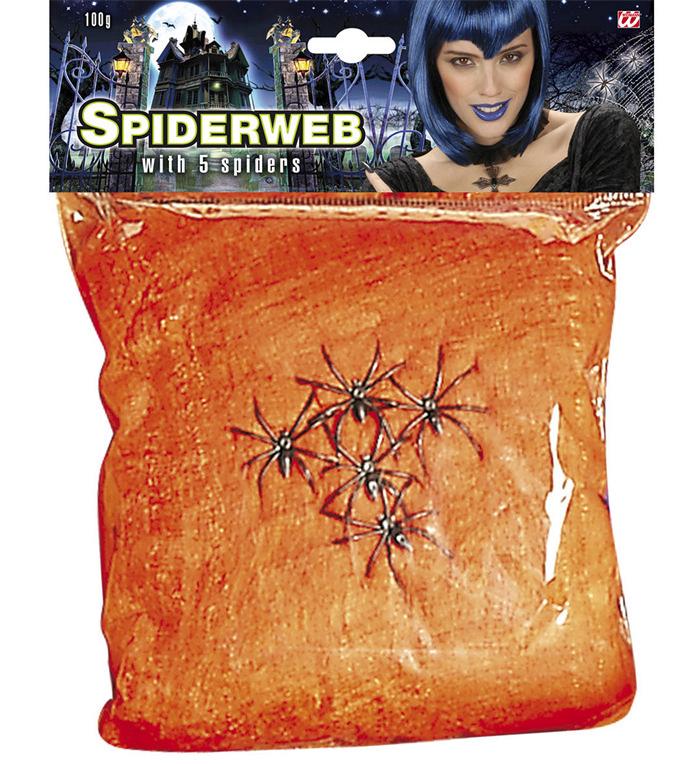 Spind og edderkopper, orange
