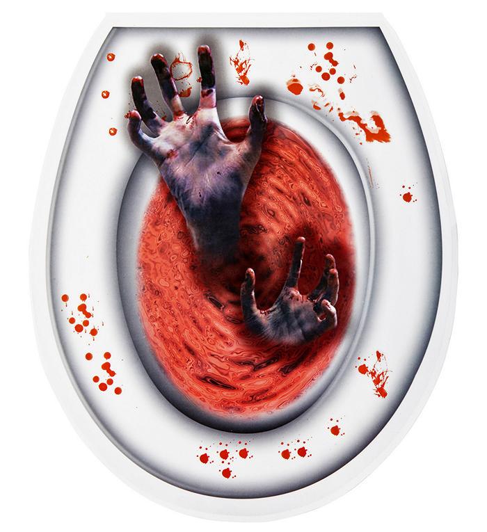 Zombiehænder Toiletklistermærke